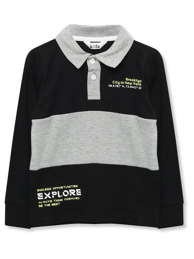 Stripe rugby shirt (3-12yrs)
