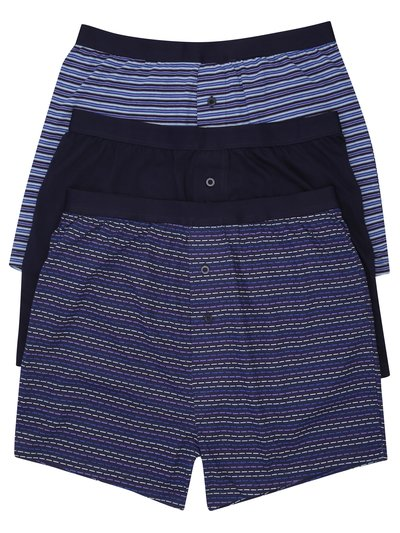 Purple stripe boxers three pack