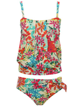 Hawaiian Floral Tankini Set