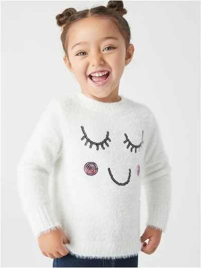 Eyelash face jumper (9mths-5yrs)