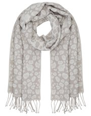 Jacquard animal scarf