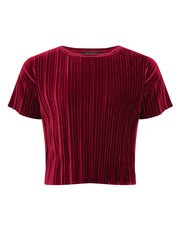 Teen's velvet pleated t-shirt