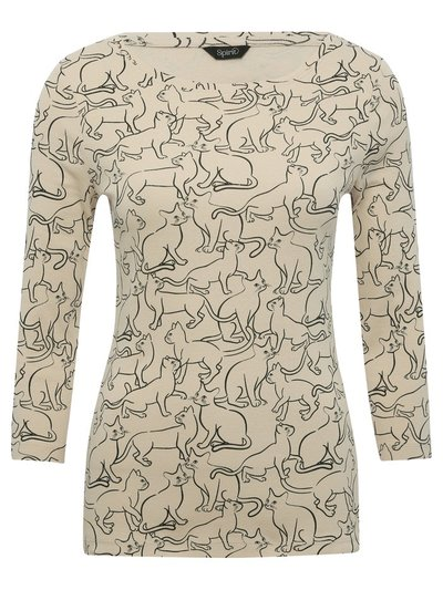 Spirit cat print top