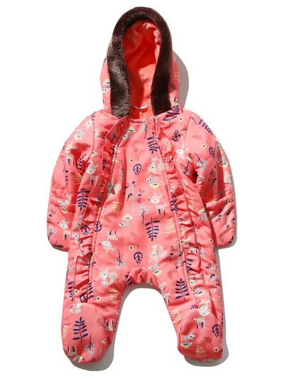 Woodland animal snowsuit (Newborn-24mths)