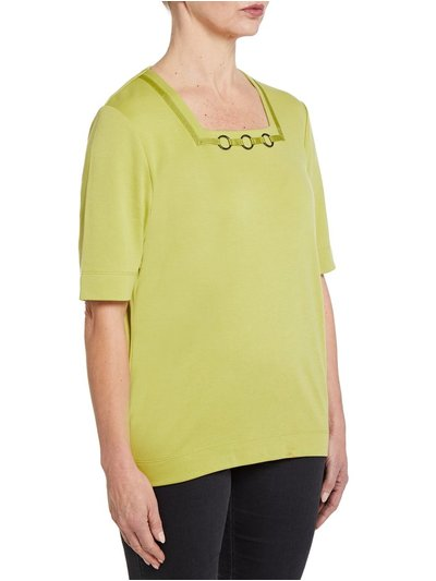TIGI green square neck top