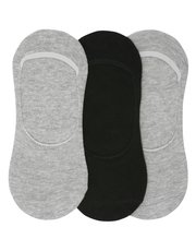 Plain invisible trainer socks pack of three pairs