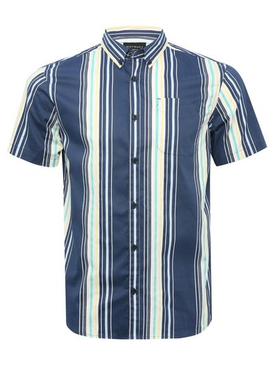Dstruct striped short sleeve shirt