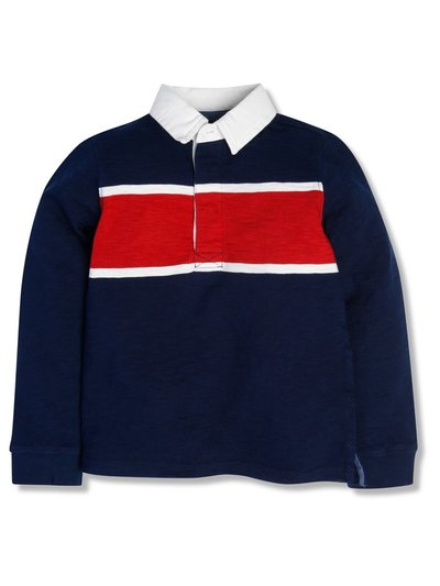 Colourblock rugby top (3-12yrs)