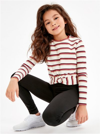 Plain black leggings (3-10yrs)