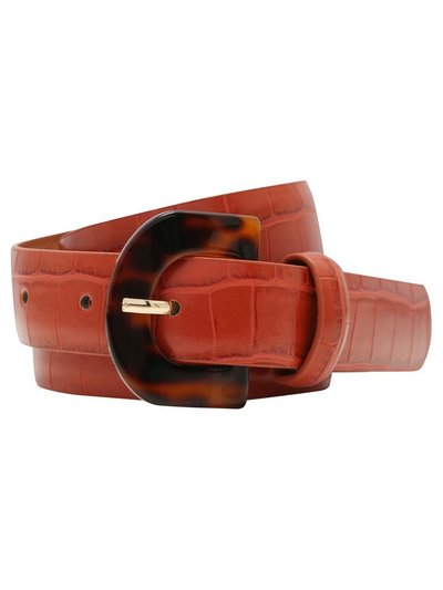 Resin buckle croc belt