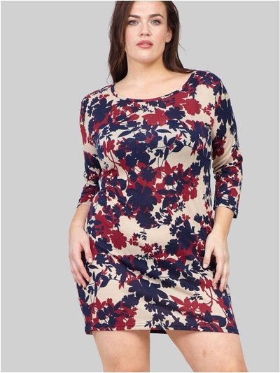Izabel Curve floral knitted bodycon dress
