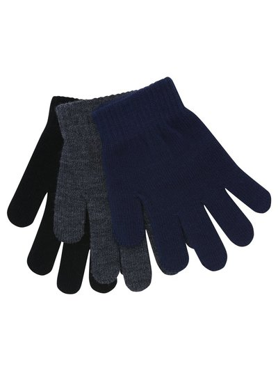 Fine knit gloves three pack