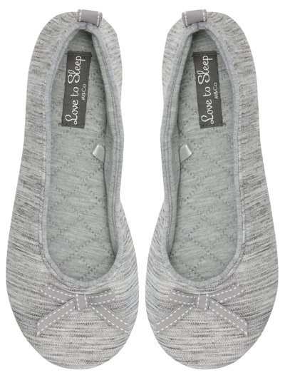Grey jersey slippers