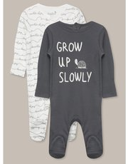 Grow up slowly sleepsuits two pack (newborn-18mths)