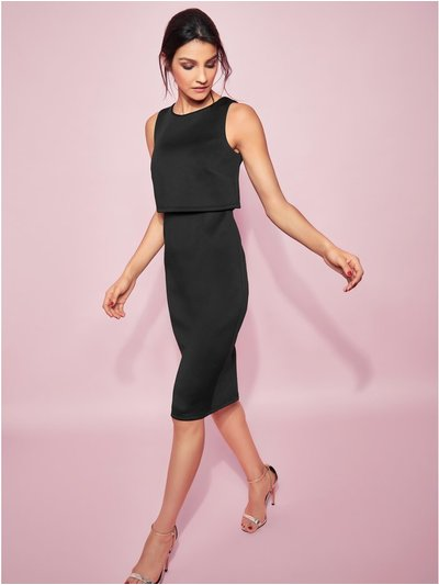 GLAMOUR overlay pencil dress