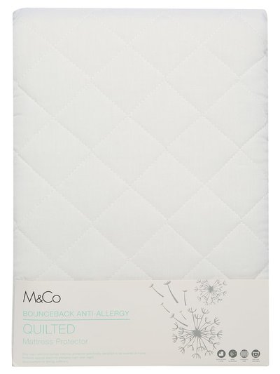 Quilted bouceback anti-allergy mattress protector