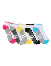 Teens' stripe trainer socks five pack
