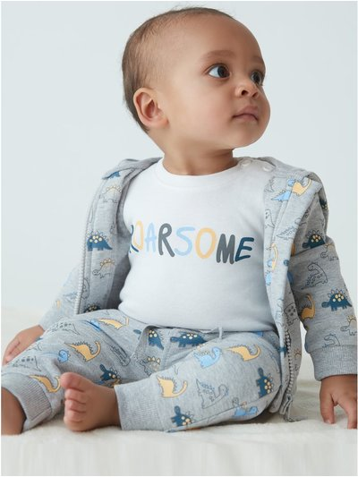Dinosaur three piece set (Newborn-18mths)