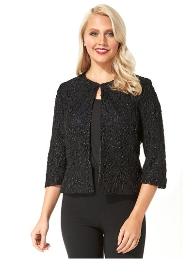 Roman Originals metallic lace cropped jacket