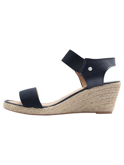 Sally espadrille elastic wedge