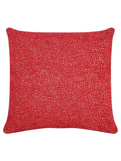 Jacquard velour cushion