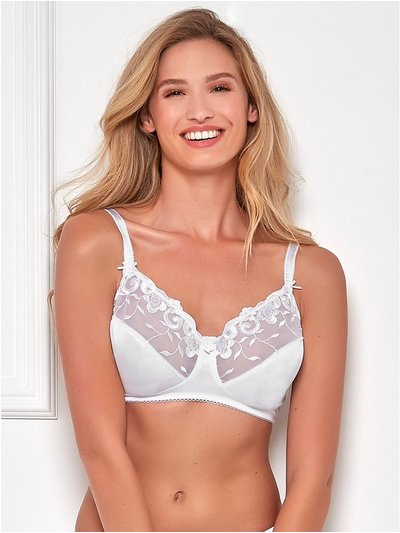 Non-wired daisy swirl bra