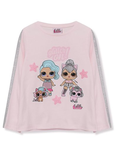 Lol Surprise glitter sleeve top (5 - 9 yrs)
