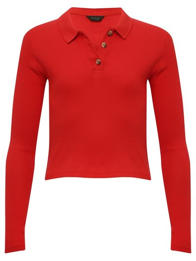 Teen long sleeve polo shirt top
