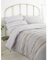 Lace band print duvet set