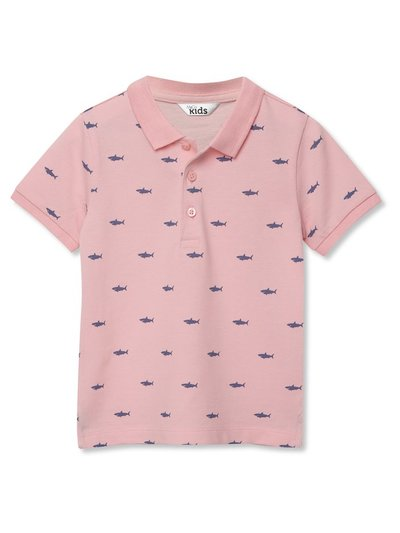 Shark print polo shirt (3-12yrs)