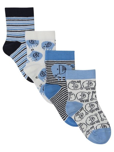 Elephant socks four pack