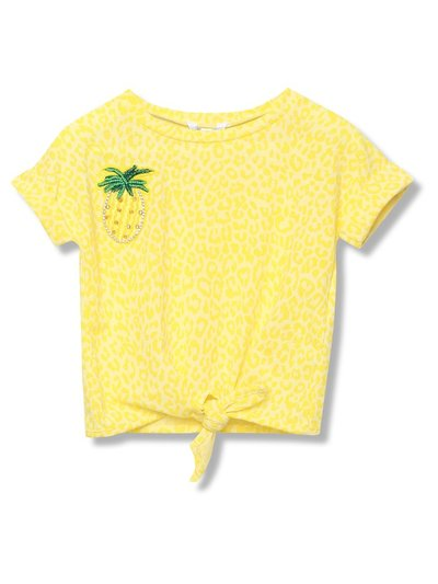 Pineapple tie front t-shirt