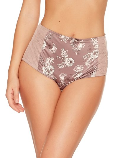 Floral lace high waist medium control briefs