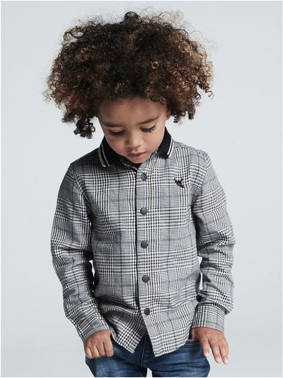 Ribbed collar check shirt (9mths-5yrs)