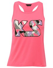 KS print racer back vest top
