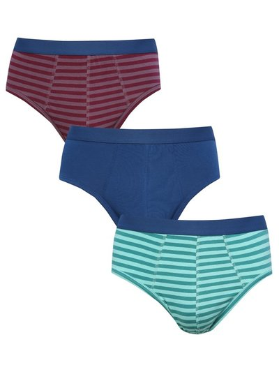 Stripe cotton briefs