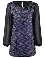 Sequin tunic top