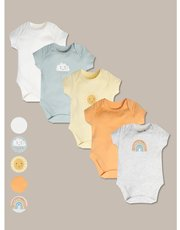 Sunshine and smiles bodysuits five pack (tinybaby-24mths)