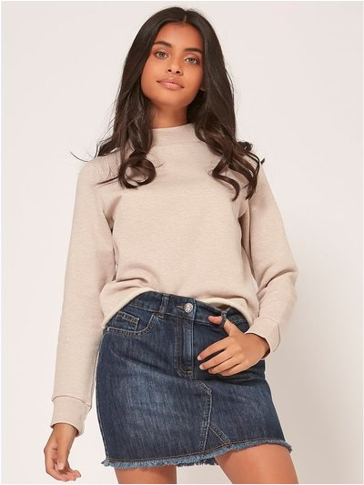 Teen high neck sweatshirt