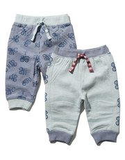 Truck print cuffed joggers two pack
