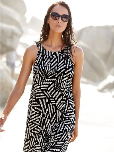 Geometric beach dress