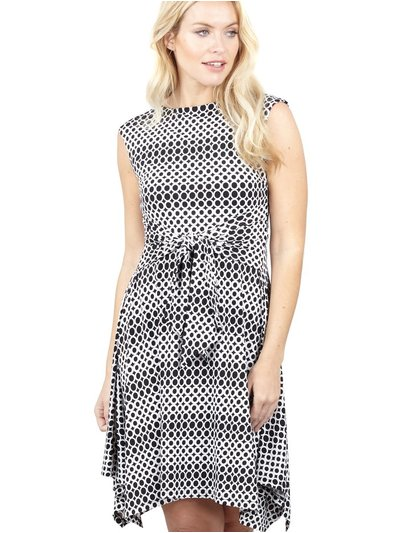 Izabel polka dot hanky hem tea dress