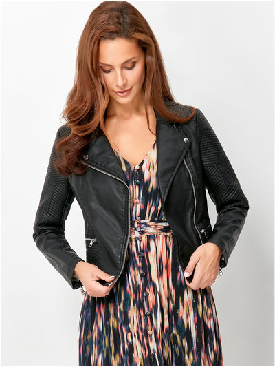 Sonder Studio quilted faux leather jacket