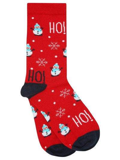 Christmas snowman socks