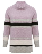 Cowl neck stripe jumper