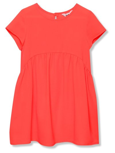 Drop hem neon dress (3 - 12 yrs)