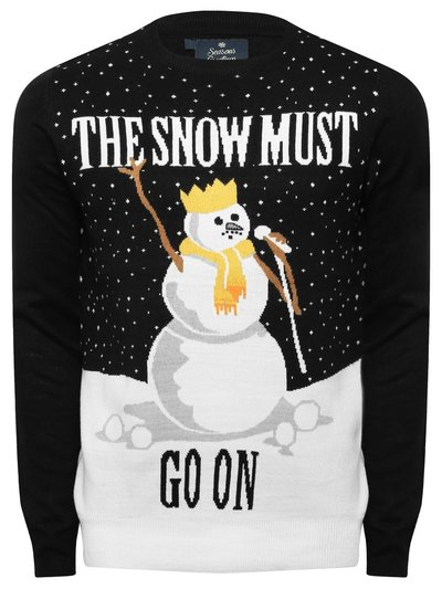 Mens snowman Christmas jumper