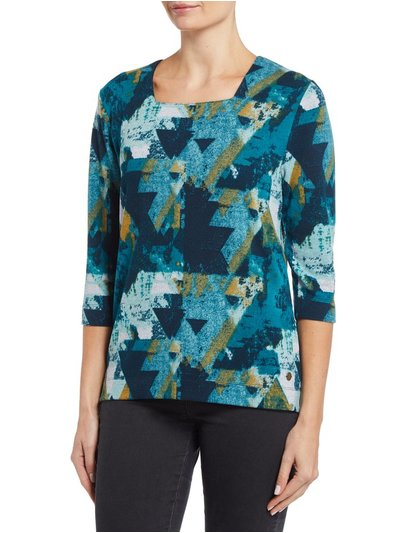 TIGI abstract print top