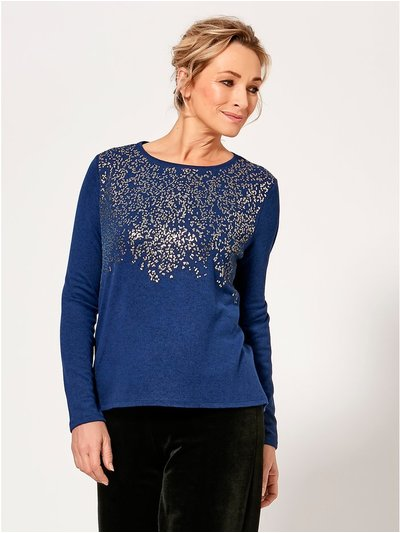 Spirit glitter embellished jumper