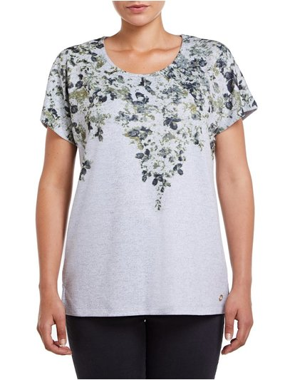 VIZ-A-VIZ floral placement top